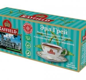 RAYFIELD – Листовой Чай Ассам Эрл Грэй Чистый Индийский с натуральным маслом бергамота 25 пакетиков