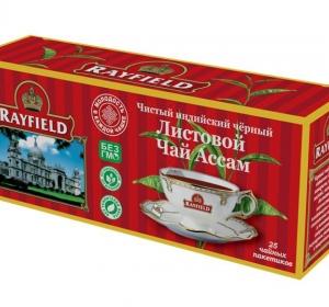 RAYFIELD – Листовой Черный Чай Ассам Чистый  Индийский  25 пакетиков