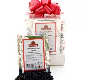 RAYFIELD Подарочный набор Листовой Чай Ассам Крепкий Саше для френч-пресса 10х10
